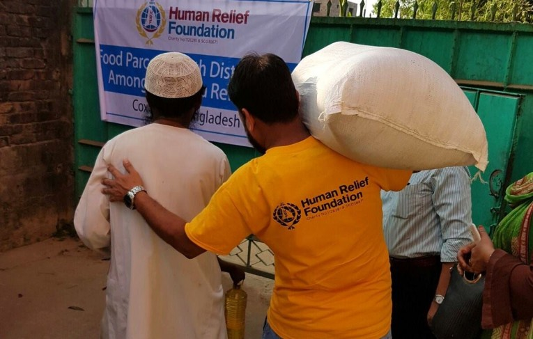 Delivering Food Aid to Rohingya