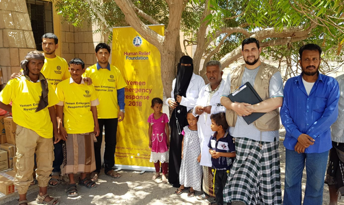 Distributing Medical Supplies To Yemeni Hospital - March 2018