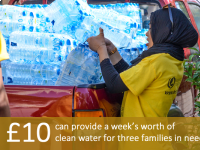 £10 can provide a week's worth of clean water for three families in need