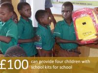 £100 can provide four children with school kits for school