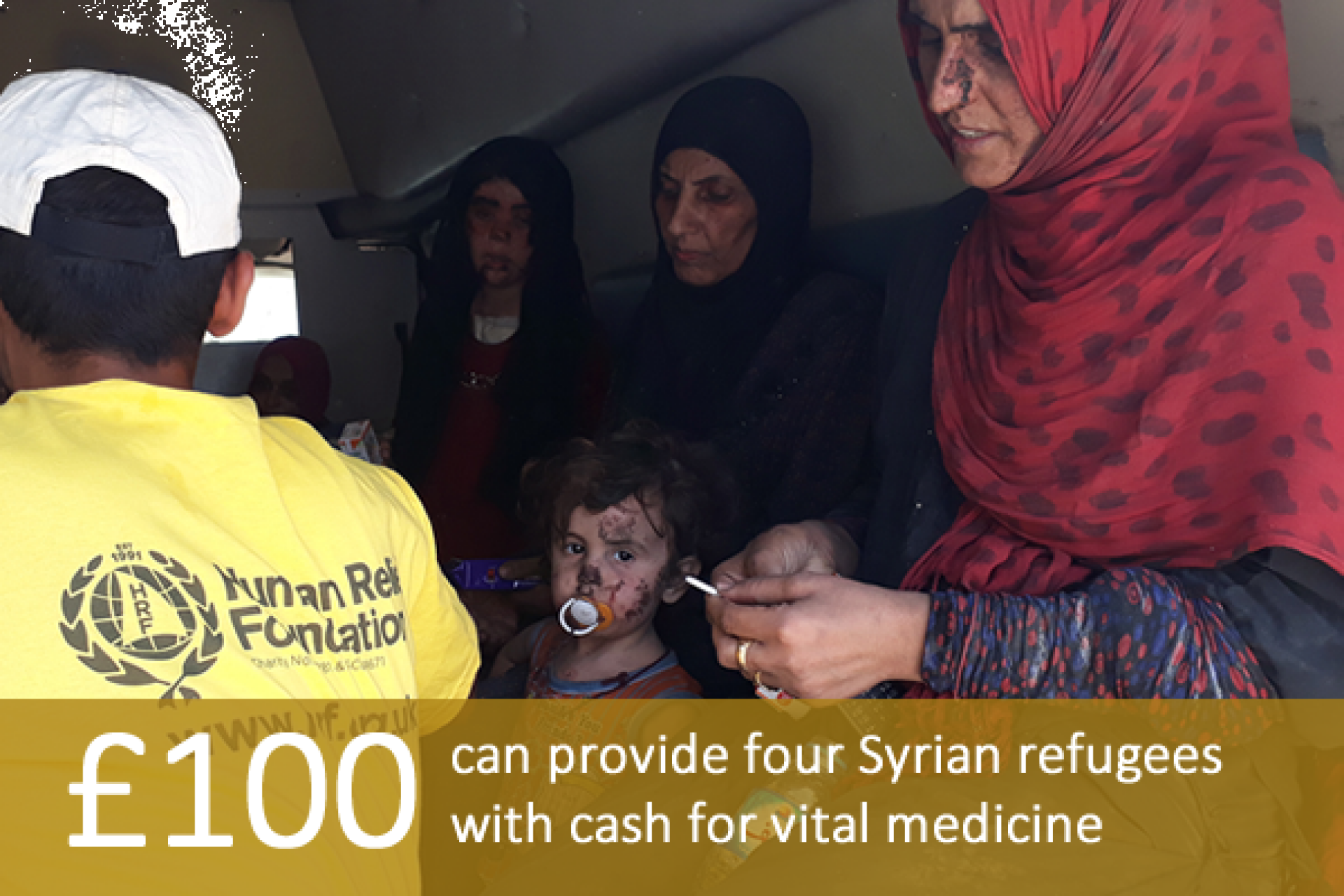 £100 can provide four Syrian refugees with cash for vital medicine