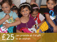 £25 can provide an Eid gift to an orphan