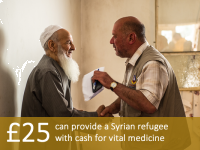 £25 can provide a Syrian refugee with cash for vital medicine