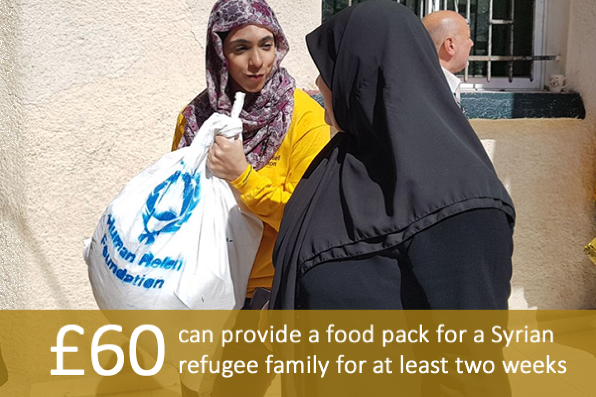 £60 can provide a food pack for a Syrian refugee family for at least two weeks