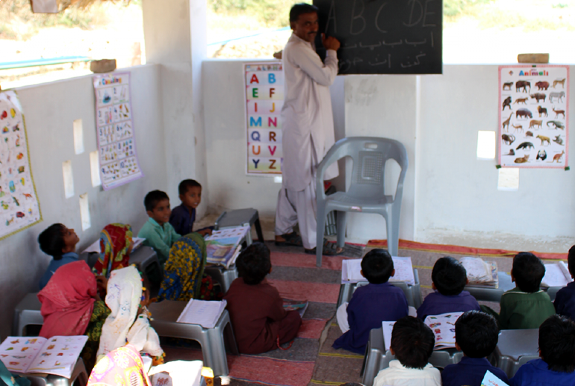 Children learning at one of the many HRF schools - Pakistan