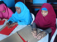 Braille helps children at the Al-Basiir School for the Deaf and Blind - Somalia